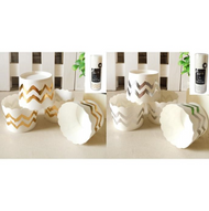 Shmick Metallic Chevron Cupcake Baking Cups