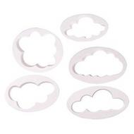 5pc Clouds Plastic Cutter Set