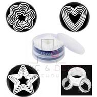 Plastic Fondant/Cookie Cutter Sets (6)  - LOYAL