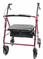 "Lumex Walkabout Imperial Hemi Rollator - 450 lbs Capacity; 31"" to 34.5"" Handle Height"