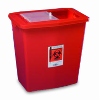 Large Volume Containers with Sliding, Sealing Gasket Lids - 12 gal, Red, Sliding Lid