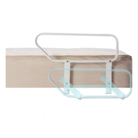 Side rail for the Flex-A-Bed adjustable bed with illustrated lowered position. The half-rails are available as single, pair (2) or two pair (4).