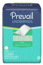 "Prevail Fluff Underpads - Moderate Absorbency, 23"" x 36"""