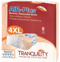 Tranquility AIR-Plus Tab Closure Bariatric Briefs - Maximum Absorbency