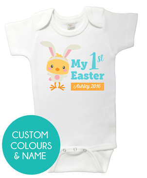 1st Easter Bunny Chick Onesie