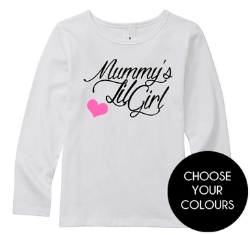 Mummy's Lil Girl long sleeve kids top