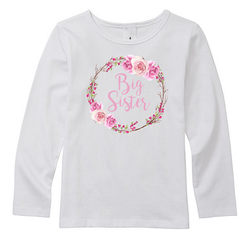 Rose Wreath Big Sister Top