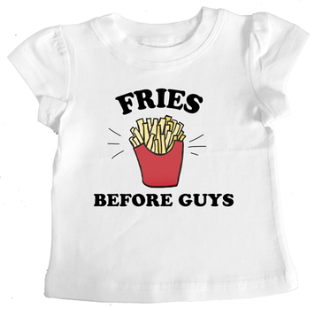 FRIES BEFORE GUYS t-shirt slogan tee
