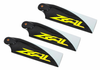 ZEAL 3 Blade Carbon Fiber Tail Blades 105mm - YELLOW