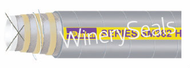 """2.5"""" Reinforced Gray EPDM Suction Hose"""