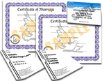 Full Marriage Package 1 ID Card one year Minister License 2 Marriage Certificates 1digital copy Details of Marriage Laws 1digital copy Ceremonies