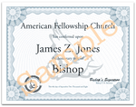 Special Title Certificate from the American Fellowship Church