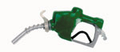 "1"" GREEN AUTOMATIC NOZZLE WITH HOOK"