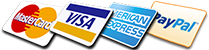 We Accept Credit Cards, American Express & PayPal