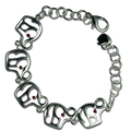 Support your Republican candidate during election season by wearing this 5 elephant bracelet. Gold-plate or silver-plate.
