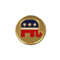 Cloisonne Logo Tie Tack with Republican logo