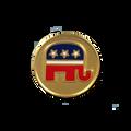 Cloisonne Logo Tie Tack with Republican logo