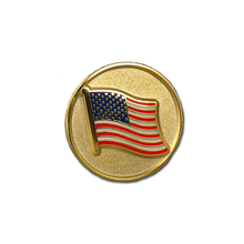 Tie tack with United States flag