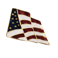 """This 1"""" red, white and blue enamel lapel pin is a perfect way to show your love of country."""