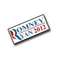 "1"" Romney/Ryan 2012 lapel pin."