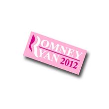 "1"" Pink Romney/Ryan Lapel Pin."