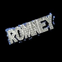 "ROMNEY Swarovski Crystal Pin. Approx 2""."