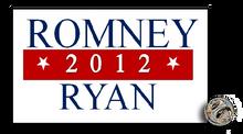 "1"" x 0.5"" enamel Romney Ryan 2012 lapel pin."