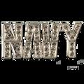 "Support the Navy! Diamond like Swarovski crystal, silver-plate brooch/pin. 1.25 ""W x 0.50""H."
