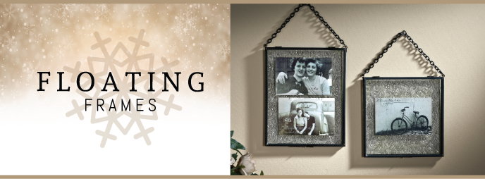 Give a gift like a Hanging Glass Picture Frames part of the Glass Photo Frames collection  by J. Devlin
