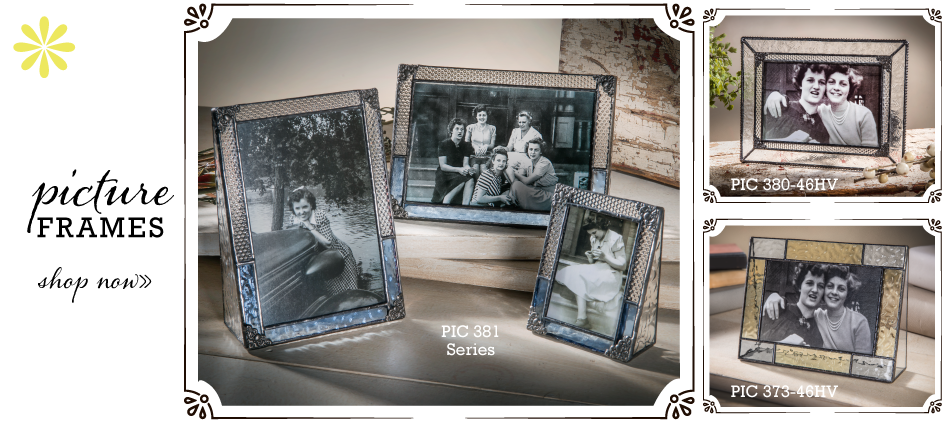 Glass picture frames by J. Devlin, makes a great gift, display photos in a textured and stained glass photo frame..