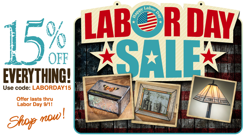 Save on glass art collectibles and gifts by J. Devlin Labor Day Sale