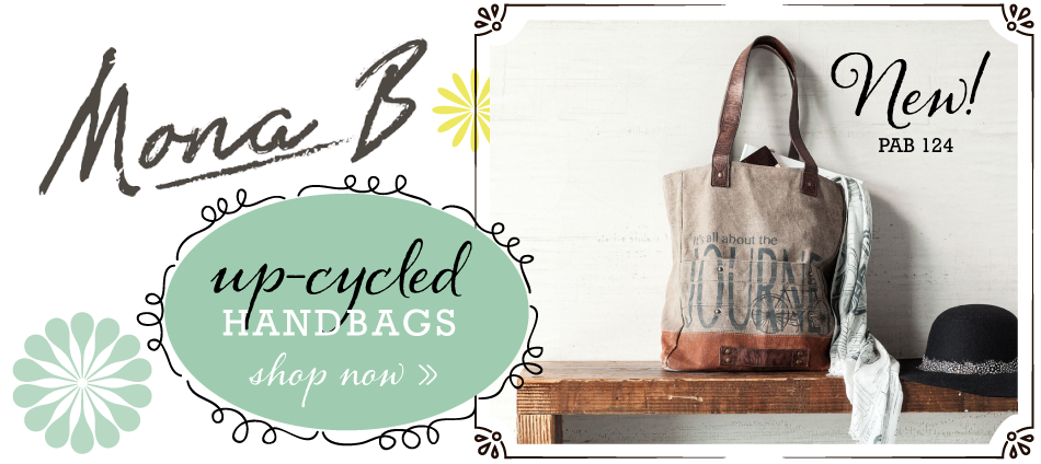 Mona B Up-cycled handbags make a great gift for Mom on Mother's Day