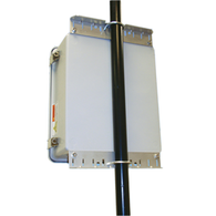 """Universal Pole Mounting Kit make mounting fast and easy. This kit is used to mount HW-N14-1 or HW-N18-1 series weatherproof enclosure to 1-1/4"""" (31.7mm) to 2"""" (50.8mm) Dia. Poles. For larger diameter poles, slots are provided in the rails for 1/2"""" (12.7mm) wide worm drive clamps."""