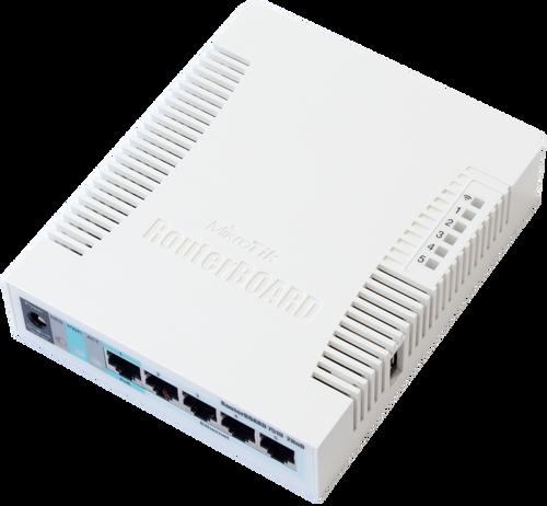 Mikrotik RB751G-2HnD 400MHz CPU 64MB 5GbLAN int b/g/n 2 chain