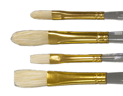 Bristle Filberts & Flats 4 Brush Set