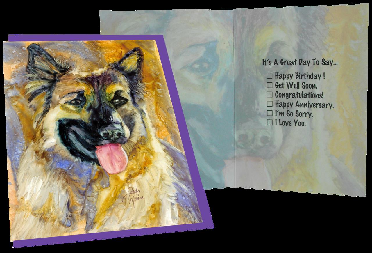 Greeting card german shepherd troy m4hsunfo