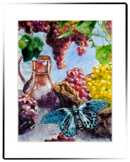 Large Matted Print | Rustic Fruit