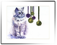 Small Matted Print | Persian Cat