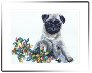 Small Matted Print | Pug