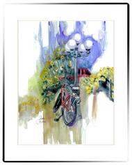Small Matted Print | Bike Ride