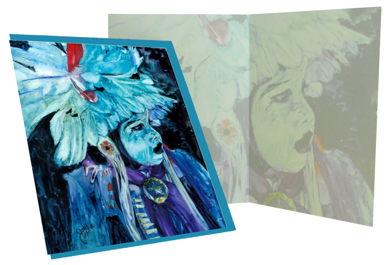 Greeting card indian girl card comes with matching envelope in a clear protective cello m4hsunfo