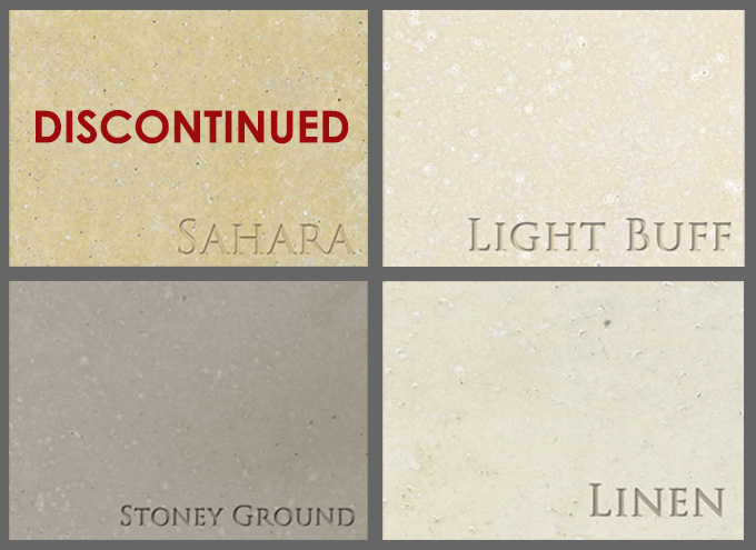 Stone mantel samples, for particular mantels
