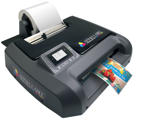 Afinia L301 color label printer uses a tri-color dye ink based ink cartridge to print all the colors (CMY)