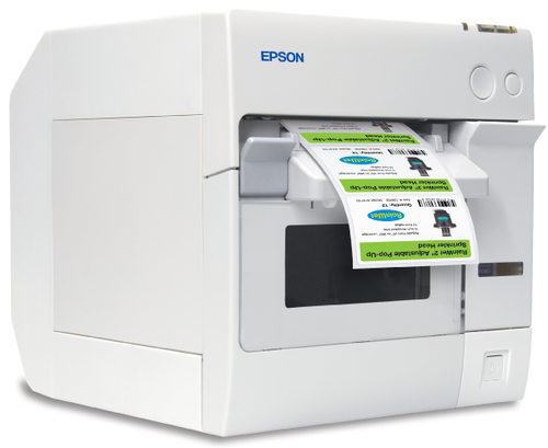 The Epson TM-C3400 is designed for commercial production of custom labels