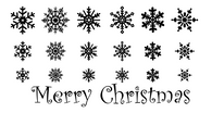 Snow Flake wall decals, Merry Christmas Wall Decals, holiday wall decals, winter wall decals