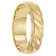 8 mm 14kt. Gold Handcrafted in U.S. - Cologne