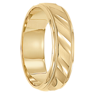 6 mm Mens Wedding Ring 14kt. Gold - Cologne