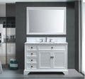 Boston 48 Traditional Bathroom Vanity Set – White