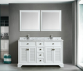 Boston 60 Double traditional bathroom vanity Set – White