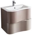 Cambria 25 3/8 Stone Modern Wall Mount Bathroom Vanity Set